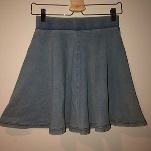 top shop denim circle skirt